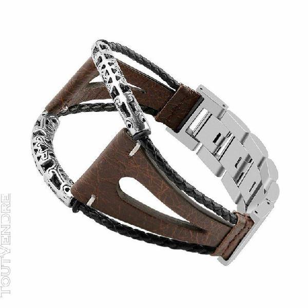 Bracelets cuir main bracelet sangles pour samsung galaxy wat