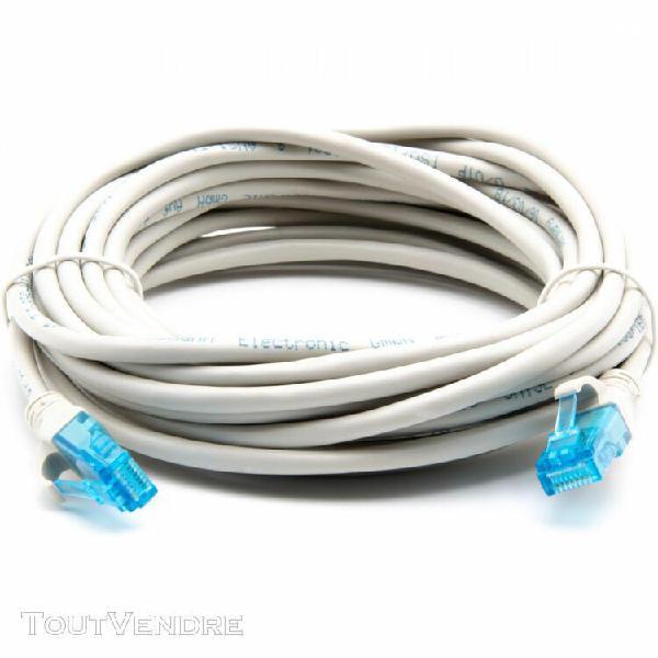 Câble réseau gigabit ethernet rj45 cat 5e u/utp 7m - blanc