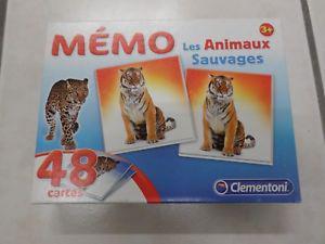 CLEMENTONI Memo Les animaux sauvages