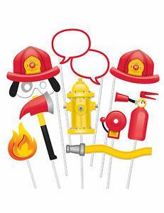 Kit photobooth pompier 10 accessoires cod.279572