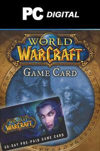 Wow world of warcraft carte pré-payée 60 jours - blizzard