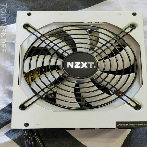 Alimentation modulaire 650w nzxt hale90 80+gold blanche + ca