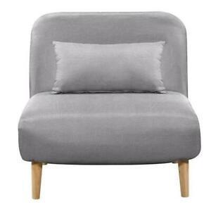 Bedz banquette bz 1 place - tissu gris clair - style