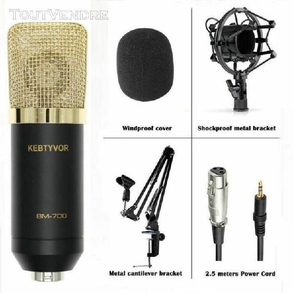 Bm 700 microphone à condensateur professionnel pour