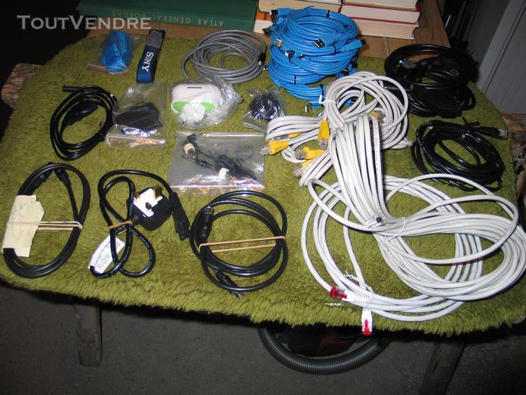 Cables ethernet et pc