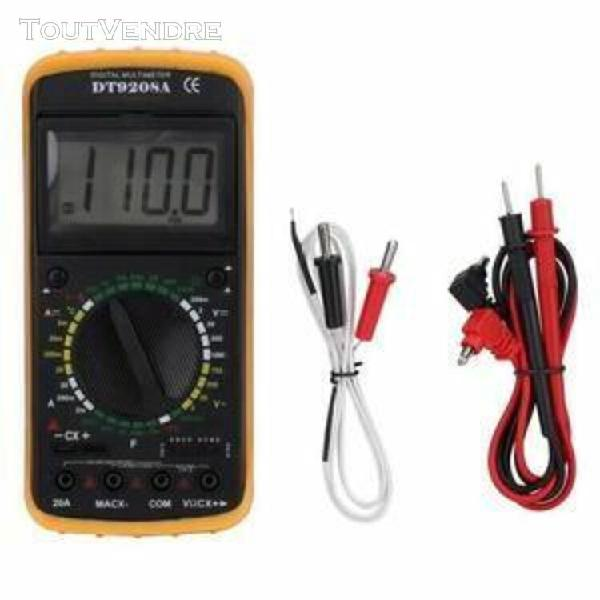 Multimètre numérique de poche lcd dt-9208a ac / dc volt