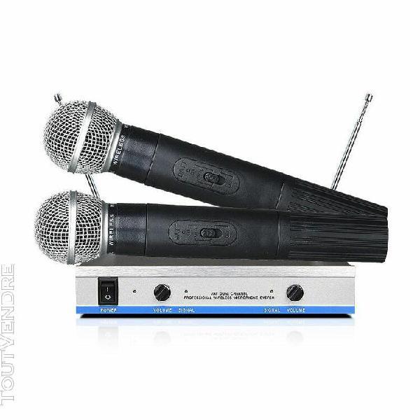 mv-74 de microphone sans fil double vhf pas cher avec