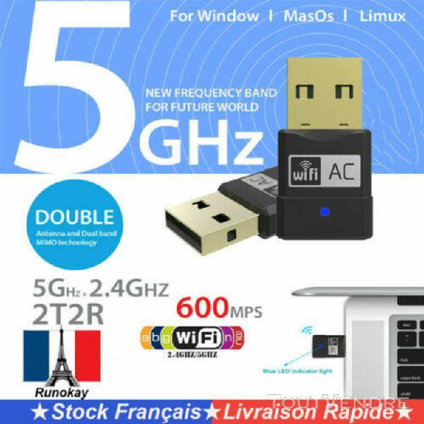 600 mbps usb clé wifi dongle adaptateur sans fil