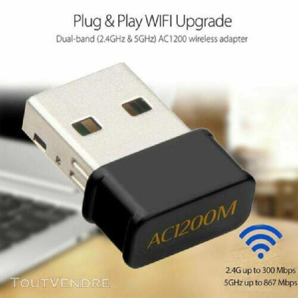 Double bande wi-fi usb 3.0 adaptateur carte réseau sans fil