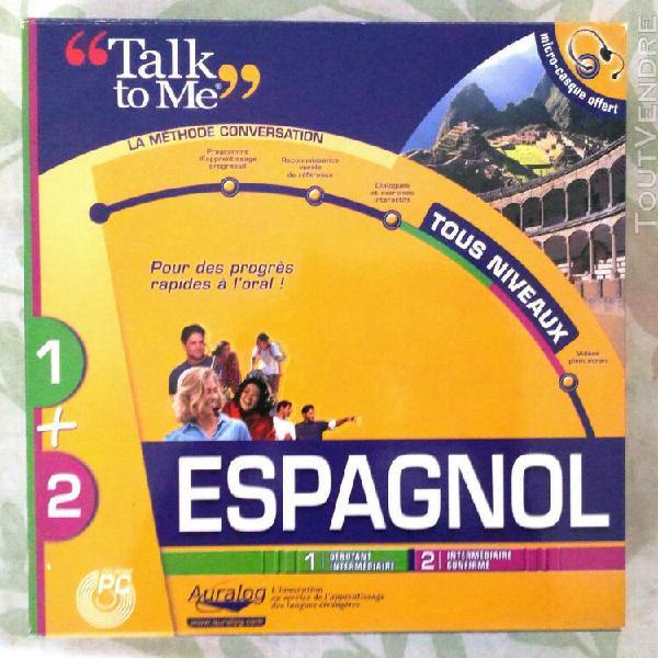 talk to me espagnol pc cd rom