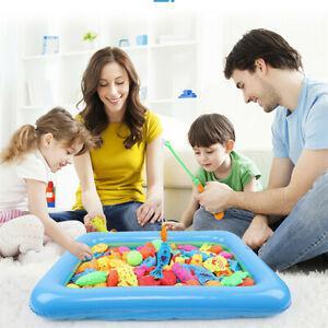 18pcs bébé magnétique poisson bath toy child game rod