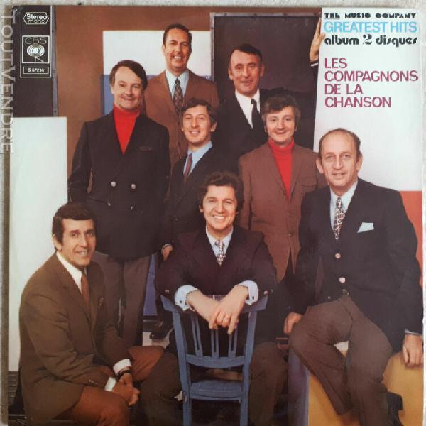 2 x 33t compagnons de la chanson vinyles lp greatest hits -n