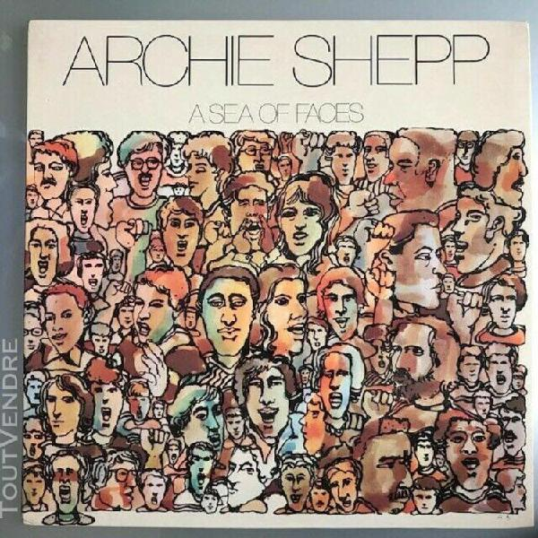 "Archie shepp ‎""a sea of faces"" vinyl lp italy 1975 great"