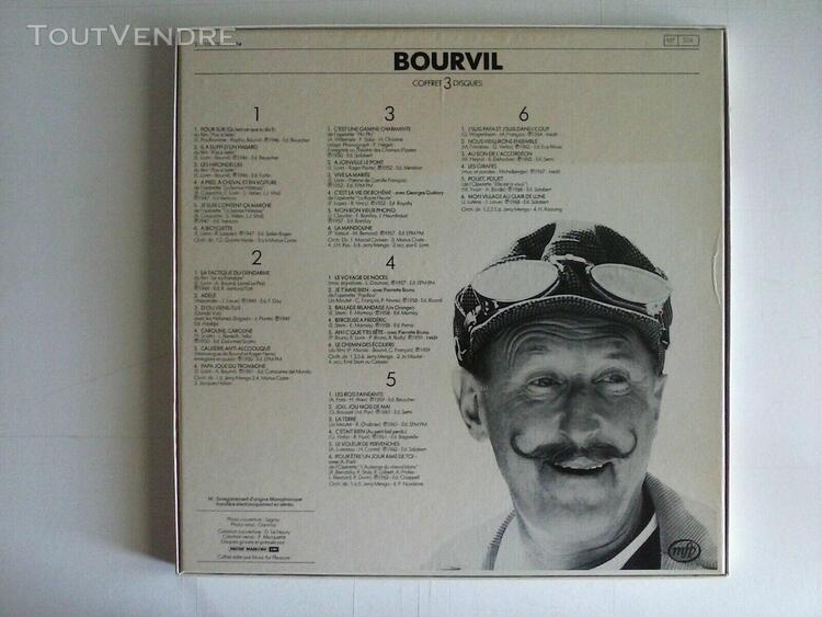 """Coffret 3 lp 33t """"bourvil"""" - vinyles à l'état proche du"""