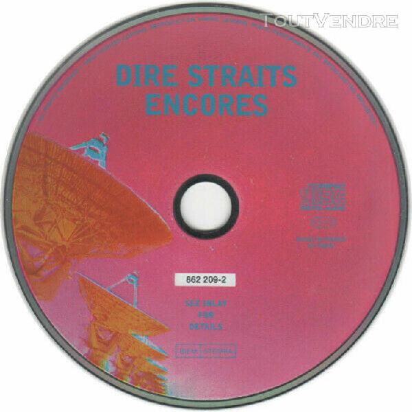 French cd single dire straits encores cardboard sleeve + 3 t