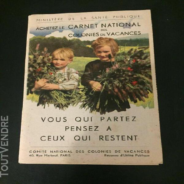 Germaine bouret: carnet national des colonies de vacances -