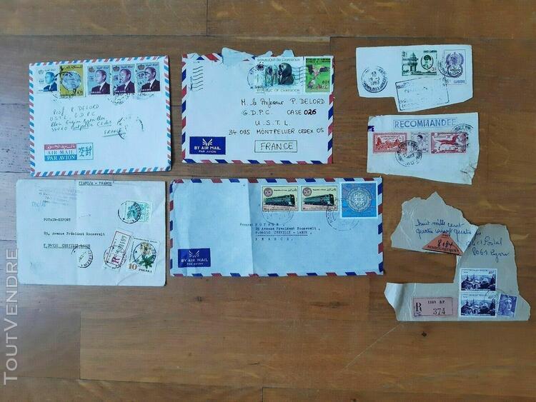 Lot marcophilie lettre recommandée by air mail