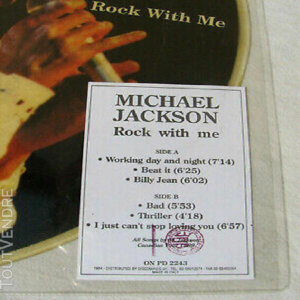 "Michael jackson rock with me disque 33t 12"" lp vinyl picture"