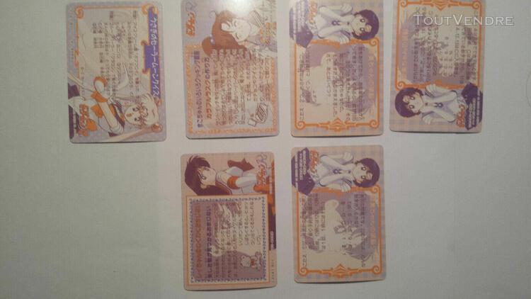 Sailor moon carddass part 4 - 6 regulars cards made in japan