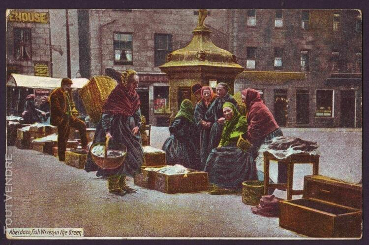 Scotland aberdeen 1905 fish wives in the green marchandes de