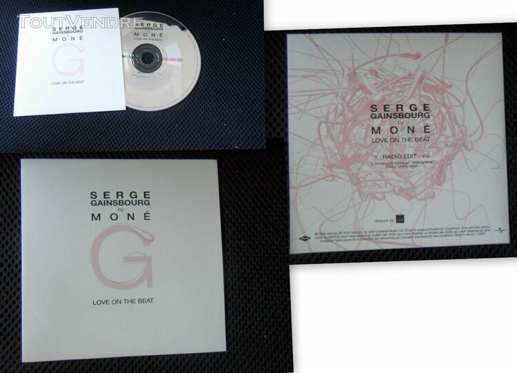 Serge gainsbourg by moné love on the beat cd promo hc