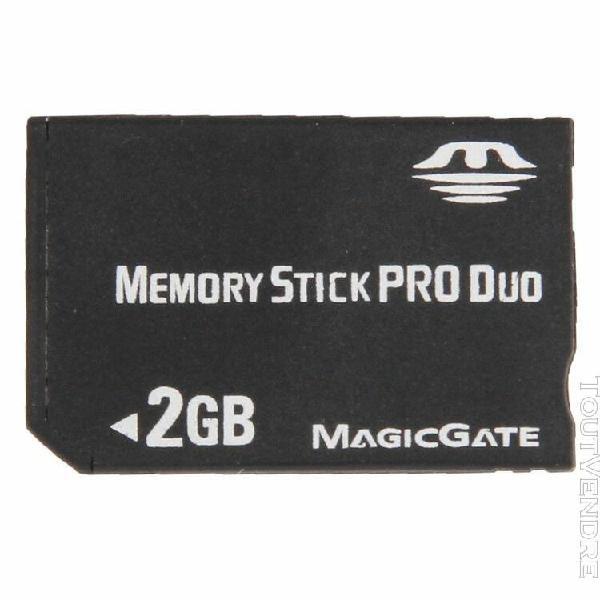 Carte mémoire noir memory stick pro duo de 2 go capacité