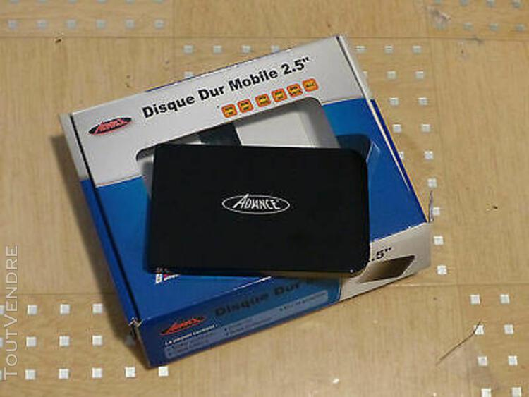 """Mini disque dur externe dans boitier 2,5"""" usb noir - ide 40"""