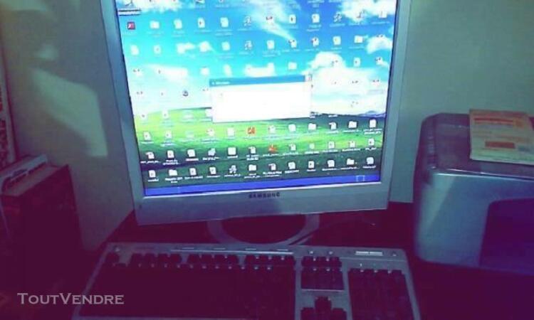 Ordinateur pc sans unité centrale: écran samsung et