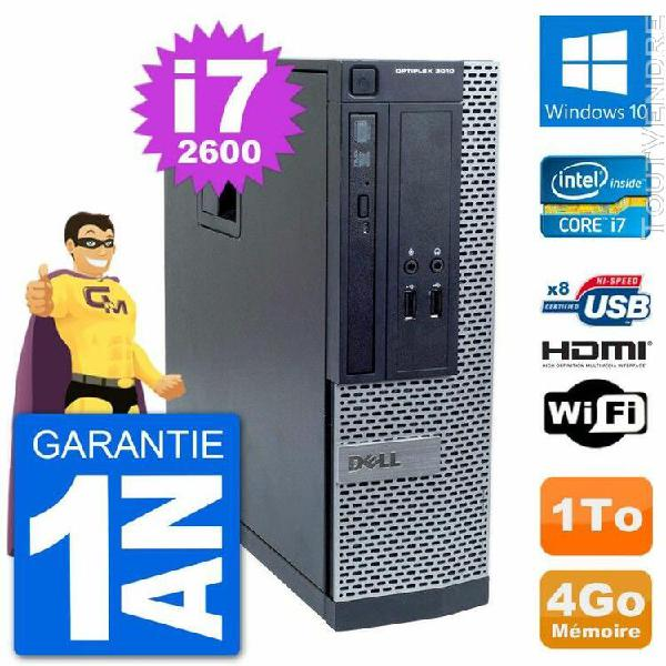 pc dell optiplex 3010 sff intel i7-2600 ram 4go disque 1to h