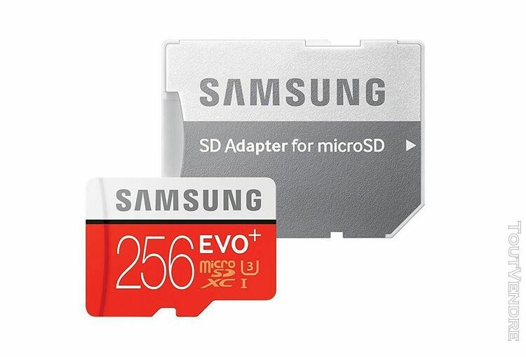 Samsung evo plus carte mémoire 256 go - classe 10 avec
