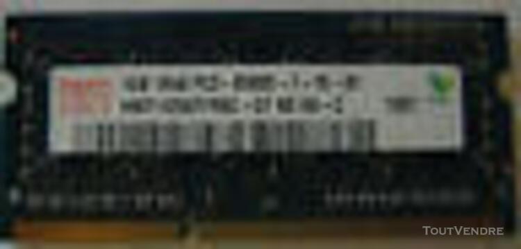 Mémoire 2 x 1 go (2 modules) sdram ddr3 pc3 8500s