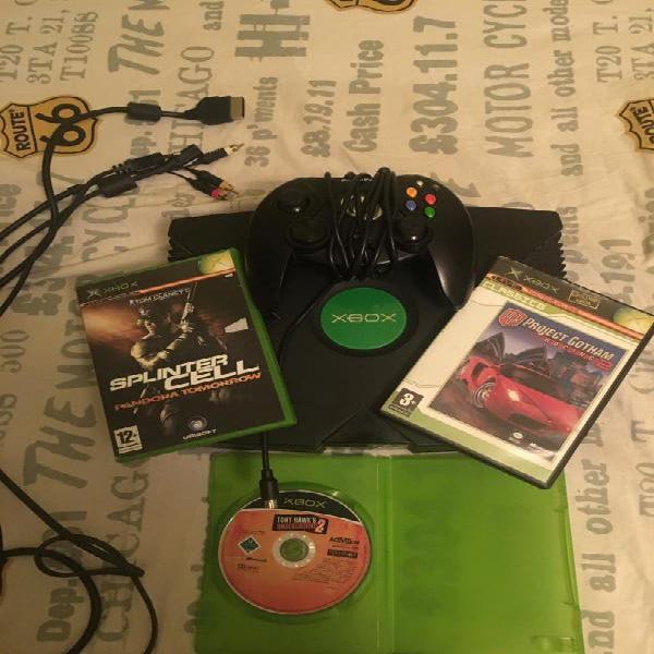 Xbox+1mannette+3jeux