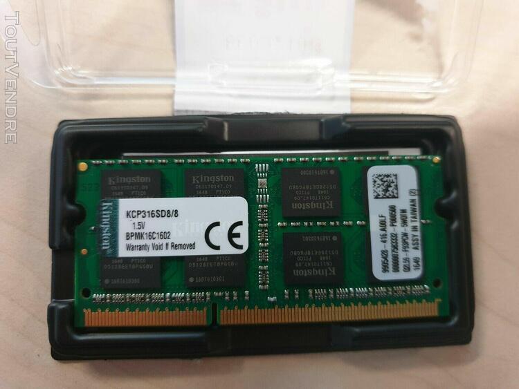Barrette mémoire 8 go ddr pc portable