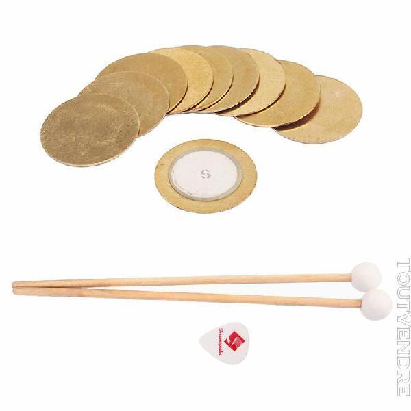 10 pièces piezo elements trigger drum disc + 1 paire