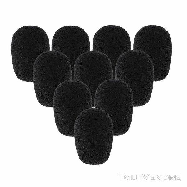 10pcs bonette de microphone cravate en mousse pièce de