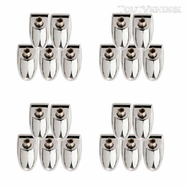 20 cosses de caisse claire pour crochet de griffe en métal