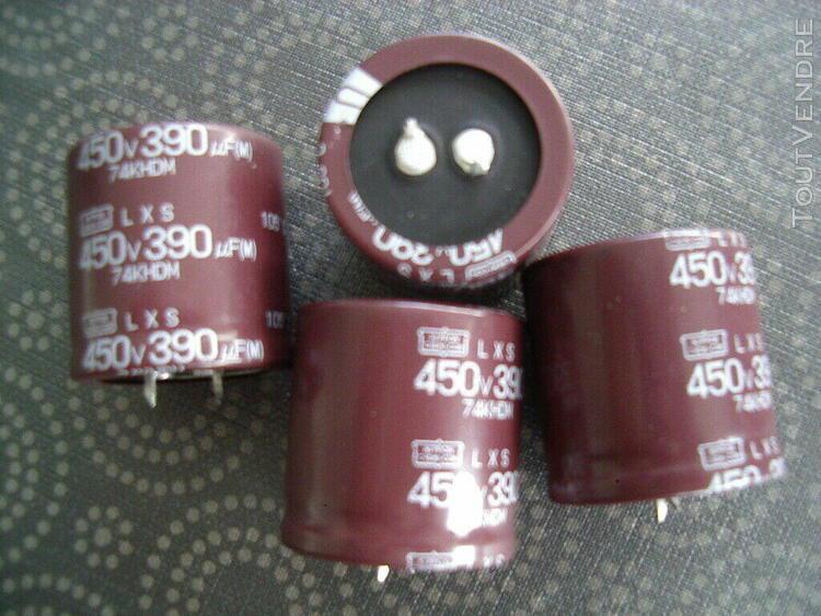 4 condo chimiques neufs 450v 330uf 105°c nippon chemi-con -