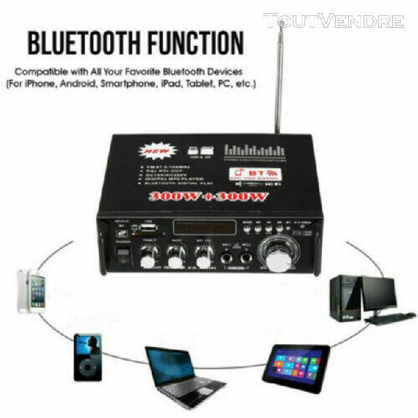 600w bluetooth stéréo l'audio amplificateur voiture