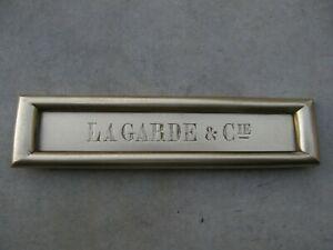 Ancienne entrée de boite à lettres en laiton bronze pour
