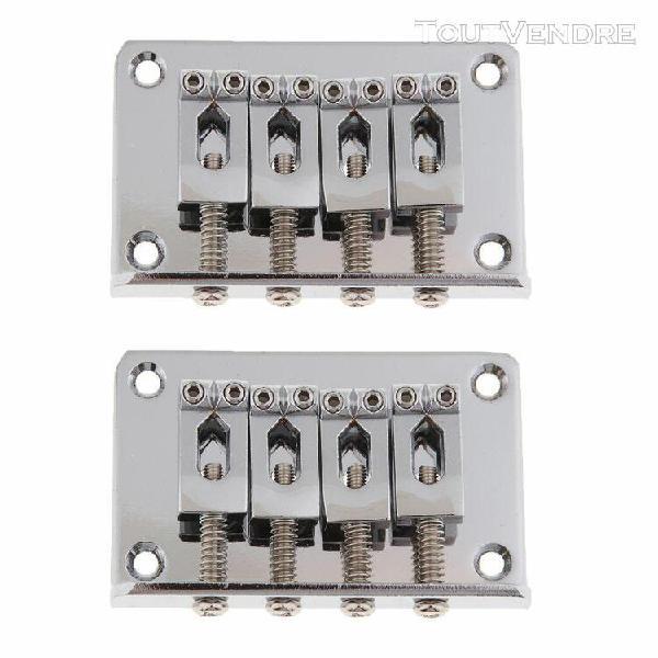 cordier de pont fixe de guitare Électrique de 2pcs 60mm 4