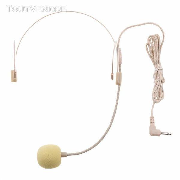 double tour d'oreille uni-directionnel microphone serre