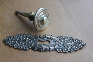 Entree de serrure bronze haut 17,5 cms poignee de porte