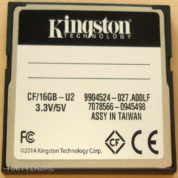 Kingston compact flash 16gb ultimate 266x