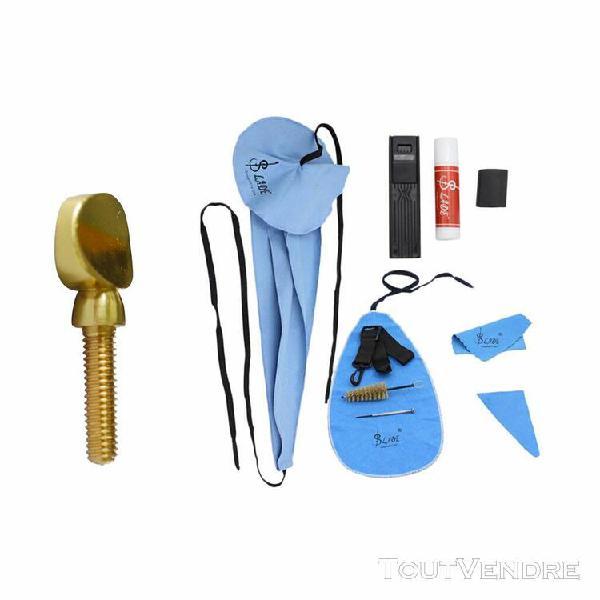 kit nettoyage saxophone brosse + ceinture avec vis de serrag