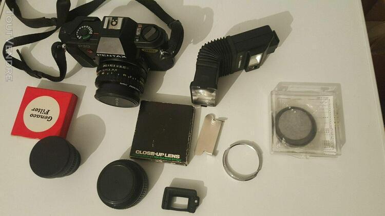 Lot appareil ancien appareil photo pentax p30 plus accessoi