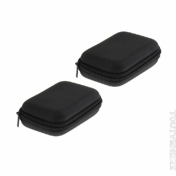 magideal 2pcs toile microphone accessoires case cas black bo