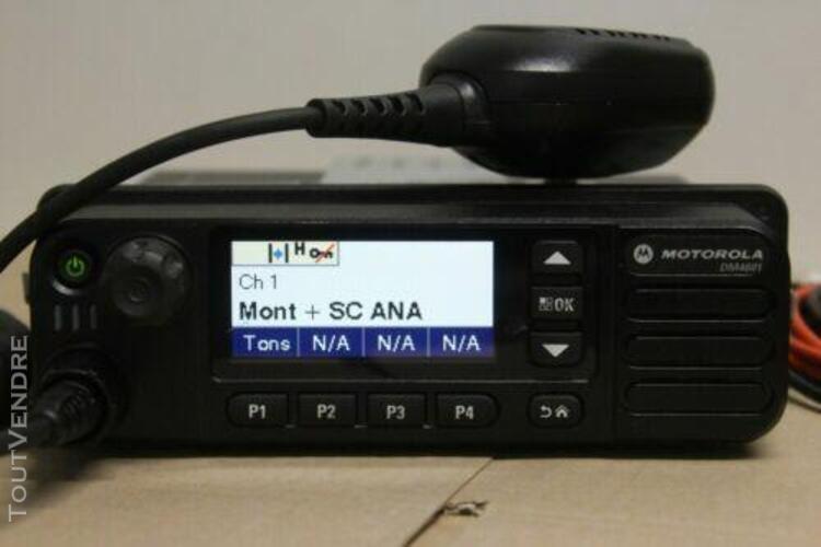 Radio motorola dm4601 mototrbo 403-470mhz bluetooth gps mba5