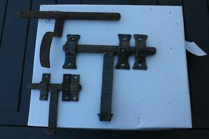 Serrure ancienne fer forge acier loquet clenche gache arret