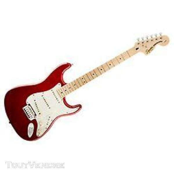 Squier standard stratocaster - touche érable - candy apple