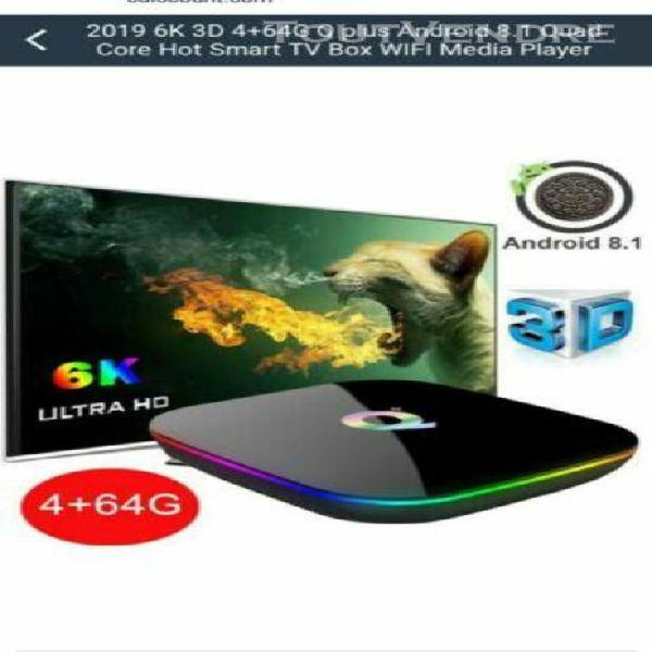 Tv box 6k boîtier tv intelligent q plus android 9.0